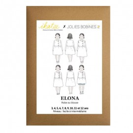Sewing pattern Ikatee Blouse or Dress Elona - 3 to 12 years old