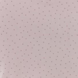 Tissu coton enduit Rico Design Hygge Points métallique - rose x 10cm