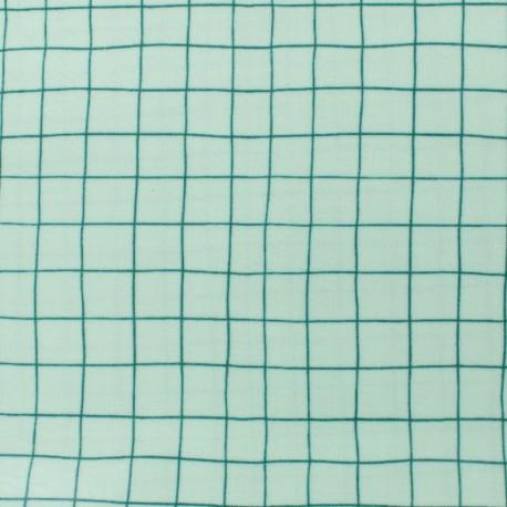 Rico Design coated cotton fabric Hygge Checked green - white x 10cm