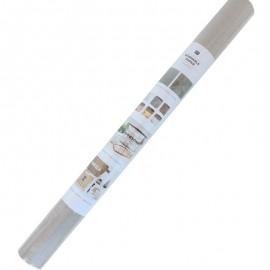 Rouleau papier cuir végétal - gris (50 x 100 cm)