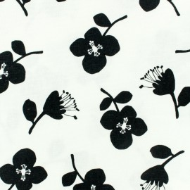 Tissu toile coton oxford Daily Like - Stamp Flower x 10cm
