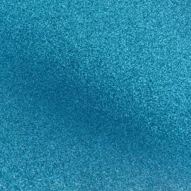 Tissu pailleté Fiesta (69cm) - bleu x 10cm