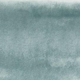 Tissu velours Brunei - vert d'eau x 10cm