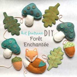 Kit créatif feutrine de laine - Forêt Enchantée