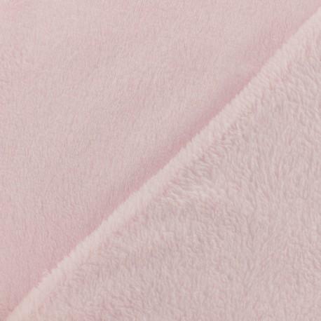 Plain Oeko-Tex baby's security blanket soft - strawberry milk x 10cm
