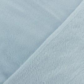Tissu Doudou Uni - lait myrtille x 10cm