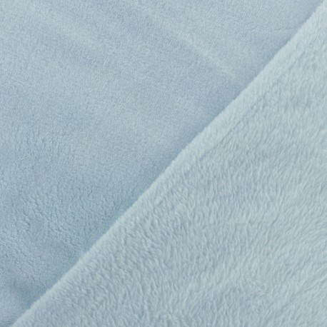 Plain Oeko-Tex baby's security blanket soft - blueberry milk x 10cm