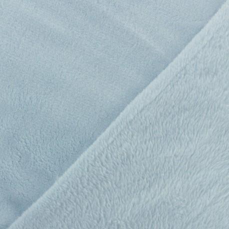 Tissu Oeko-Tex Doudou Uni - lait myrtille x 10cm