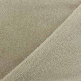Plain baby's security blanket soft - light beige x 10cm