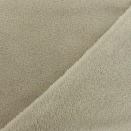 Tissu Doudou Uni - beige clair x 10cm