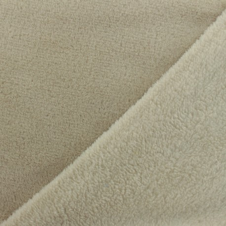 Plain Oeko-Tex baby's security blanket soft - light beige x 10cm