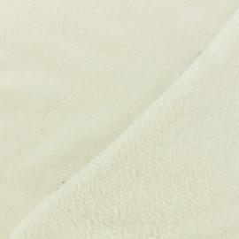 Tissu Doudou Uni - écru x 10cm