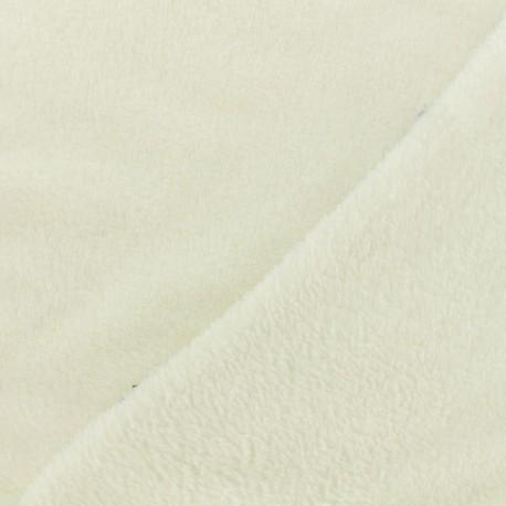 Tissu Oeko-Tex Doudou Uni - écru x 10cm