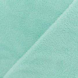 Tissu Doudou Uni - lait menthe x 10cm