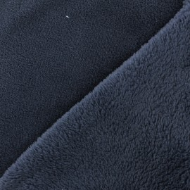 Tissu Doudou Uni - tempête x 10cm