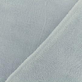 Tissu Oeko-Tex Doudou Uni - fumée x 10cm