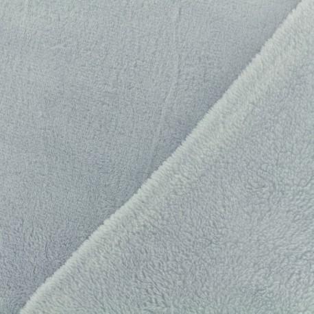 Plain Oeko-Tex baby's security blanket soft - smocked blue x 10cm