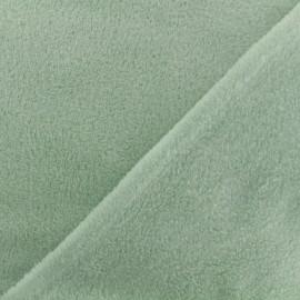 Tissu Oeko-Tex Doudou Uni - sauge x 10cm
