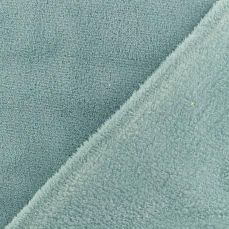 Plain Oeko-Tex baby's security blanket soft - celadon x 10cm