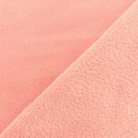 Tissu Doudou Uni - capucine x 10cm