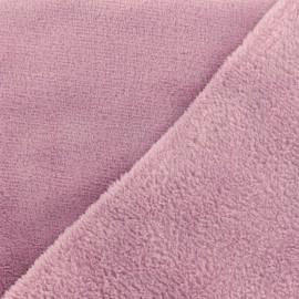 Tissu Oeko-Tex Doudou Uni - lilas x 10cm