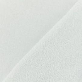 Tissu Oeko-Tex Doudou Uni blanc-  x 10cm