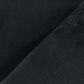 Tissu Oeko-Tex Doudou Uni - noir x 10cm