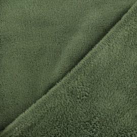 Tissu Doudou Uni - kaki x10cm