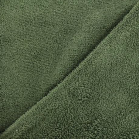 Plain Oeko-Tex baby's security blanket soft - khaki x 10cm