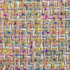 Tissu Tweed Feria - multi écru x 10cm