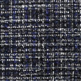 Tissu Tweed Gloria - multi noir x 10cm