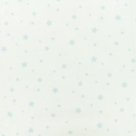 Tissu Oeko-Tex Coton Stella - blanc/bleu x 10cm