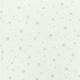 Oeko-Tex Cotton fabric Stella - white/celadon x 10cm