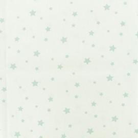 Tissu Oeko-Tex Coton Stella - blanc/celadon x 10cm