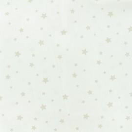 Tissu Oeko-Tex Coton Stella - blanc/lin x 10cm