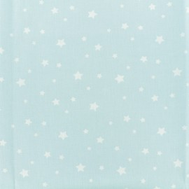 Tissu Oeko-Tex Coton Stella - bleu/blanc x 10cm