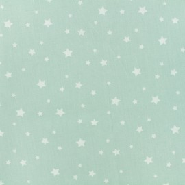 Oeko-Tex Cotton fabric Stella - celadon/white x 10cm