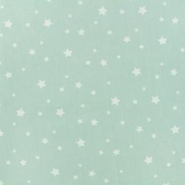 Oeko-Tex Cotton fabric Stella - celadon/white x 10cm