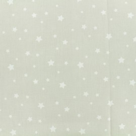 Tissu Oeko-Tex Coton Stella - lin/blanc x 10cm