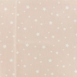 Tissu Oeko-Tex Coton Stella - rose/blanc x 10cm