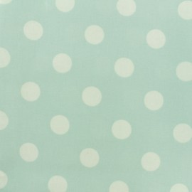 Oilcloth fabric Giant Dot - mint green x 10cm