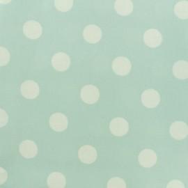 Tissu coton enduit Giant Dot - vert menthe x 10cm