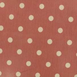 Tissu coton enduit Big Dot - rose canyon x 10cm