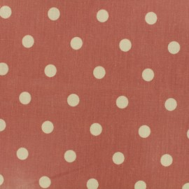 Tissu Oeko-Tex toile cirée Big Dot - rose canyon x 10cm