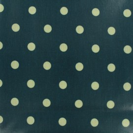 Oilcloth fabric Big Dot - petrol blue x 10cm