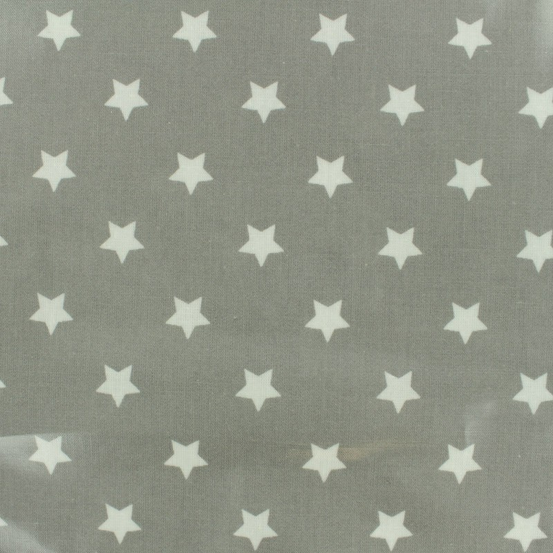 Oilcloth fabric big star grey x 10cm for Au maison oilcloth