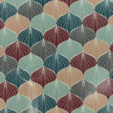Oilcloth fabric Big Star - grey x 10cm