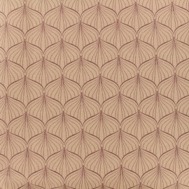 Tissu coton enduit Alli - rose x 10cm