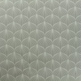 Coated cotton fabric Alli - grey x 10cm