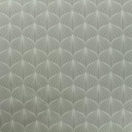 Tissu Oeko-Tex coton enduit Alli - gris x 10cm